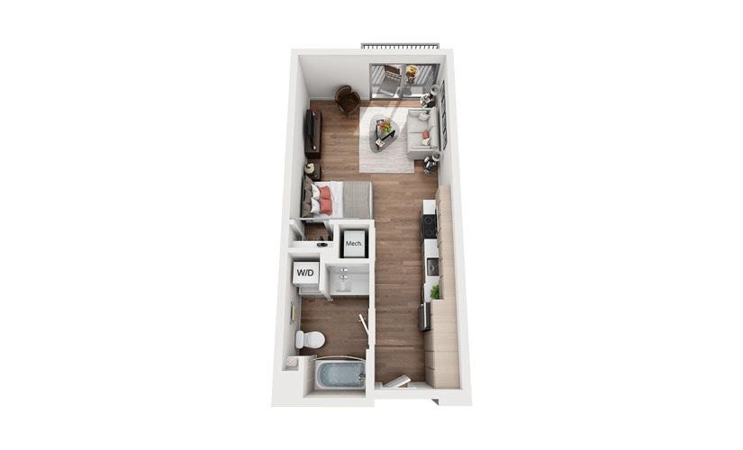 S1a Studio Floor Plan