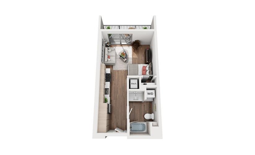 S1c Studio Floor Plan