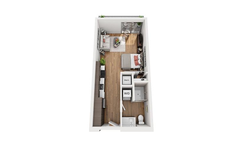 S3 Studio Floor Plan
